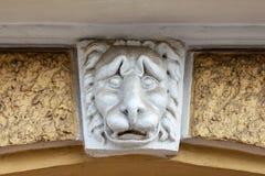 Lion Head Sculpture Visage triste photos libres de droits