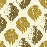 Lion head seamless pattern Royalty Free Stock Photos