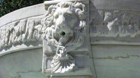 Lion head shape. Beautiful baroque waterfall, lion head shape Royalty Free Stock Image