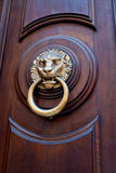 Lion head shaped door handle Royalty Free Stock Photos