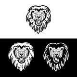 Lion3. Lion head in signs and labels Royalty Free Stock Photography