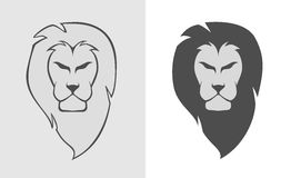 Lion Head Simple Logo Illustration Royalty Free Stock Photography