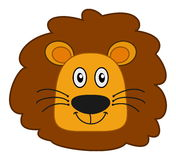 Lion head smiling Royalty Free Stock Images