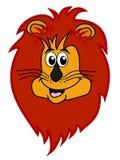 Lion head smiling Stock Photos