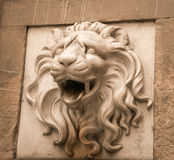 Lion head statue Royalty Free Stock Photo