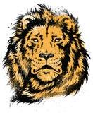 Lion Head Stencil Vector illustration stock