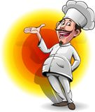 Lion head symbol. Vector illustration, mascot chef or cooker Stock Image