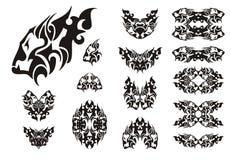 Lion head symbols - black on white Royalty Free Stock Images