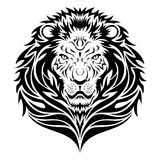 Lion HEad Tattoo stock illustration