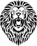 Lion head tattoo Stock Photography