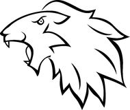 Lion head tattoo Stock Image