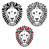 Lion head tattoo. Vector illustration of lion tattoo Vector Illustration