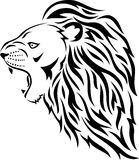 Lion head tattoo. Illustration of  black and white lion head tattoo Royalty Free Stock Photos