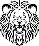 Lion head tattoo. Illustration of  black and white lion head tattoo Royalty Free Stock Image