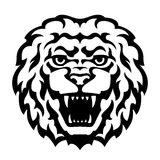 Lion Head Tattoo. Black and white lion head tattoo. Stylized vector illustration Stock Photography