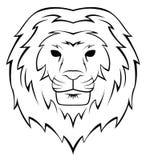 Lion Head Tattoo Illustration Photo libre de droits