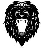 Lion Head Tattoo Illustration Photo stock