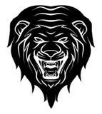Lion Head Tattoo Illustration Image stock