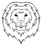 Lion Head Tattoo Illustration Royalty Free Stock Photo