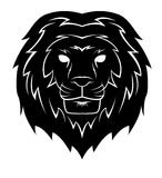 Lion Head Tattoo Illustration Stock Images