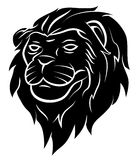 Lion Head Tattoo Illustration Stock Photography