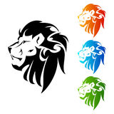 Lion Head tattoo Stock Photo