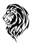 Lion Head tatuering Royaltyfria Foton