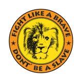 Lion Head Tiré par la main Illustration de vecteur Images stock