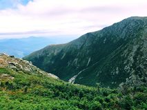 Lion Head trail mountain range summer view. Lion Head trail mountain range view in summer on the Mt. Washington in the White Mountains of New Hampshire United stock image