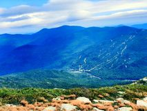 Lion Head trail mountain range summer view. Lion Head trail mountain range view in summer on the Mt. Washington in the White Mountains of New Hampshire United royalty free stock photography