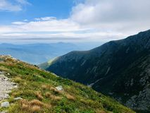 Lion Head trail mountain range summer view. Lion Head trail mountain range view in summer on the Mt. Washington in the White Mountains of New Hampshire United stock images