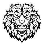 Lion head tribal tattoo Stock Photos