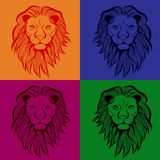 Lion head vector animal illustration for t-shirt. Sketch seamless tattoo design vector illustration