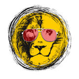 Lion head. Vector background. Poster Stock Image