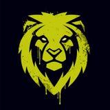 Lion Head Vector Graffiti Art royalty illustrazione gratis