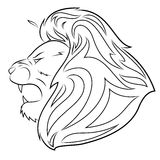 Lion head vector illustration 5 Royalty Free Stock Photography