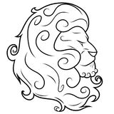 Lion head vector illustration 3 Royalty Free Stock Photo