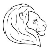 Lion head vector illustration 2 Stock Images