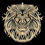 Lion head. Vector (no gradients Royalty Free Stock Image
