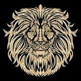 Lion head. Vector (no gradients Royalty Free Stock Image