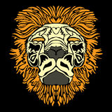 Lion head. Vector (no gradients Stock Images