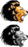 Lion Head Vector para el uso del logotipo o de la camiseta libre illustration
