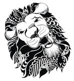 Lion head - vector sign concept illustration. Royalty Free Stock Photography