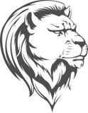 Lion Head Vector Silhouette araldico Fotografie Stock Libere da Diritti