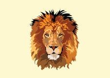 Lion Head Vector Tracing Art-Ontwerp royalty-vrije illustratie