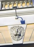 Lion head on the wall. Achitecture of Saint-Petersburg, Russia. Lion head on the wall. Old building facade. Achitecture of Saint-Petersburg, Russia. Color photo royalty free stock photo