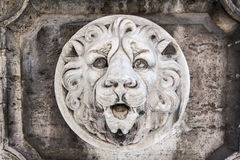Lion head wall sculpture Royalty Free Stock Image