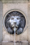Lion head water fountain Royalty Free Stock Images