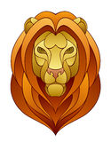 Lion head. On a white background Royalty Free Stock Photos