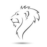 Lion head. On white background in vector Stock Photos